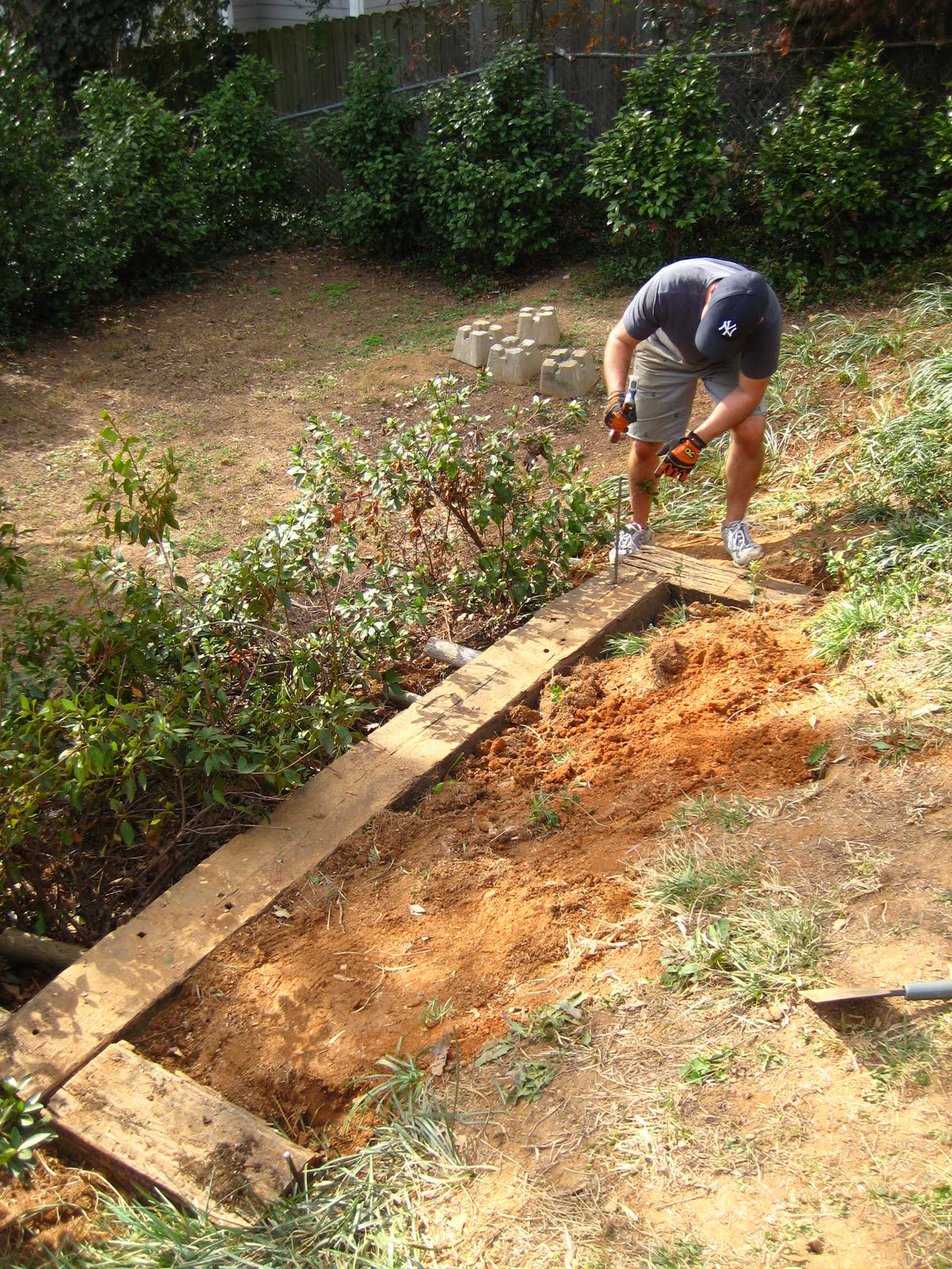 Landscaping Ties At Lowes : The smith nest railroad tie garden