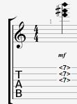 Guitar chord harmonics B minor