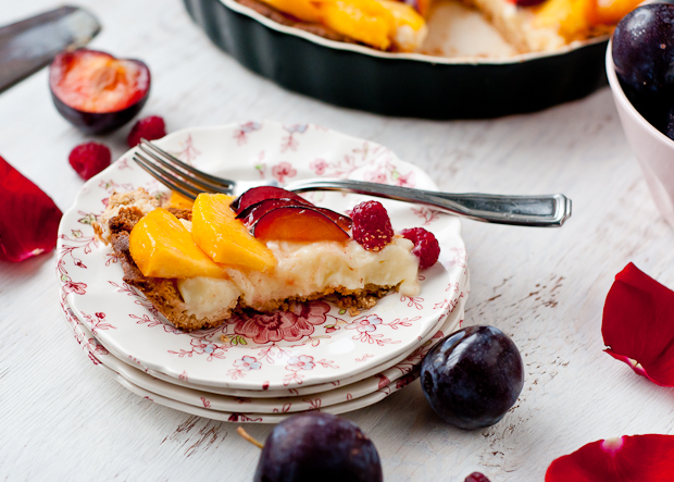 Gluten-Free Peach, Plum, Raspberry Tart - Cafe Johnsonia