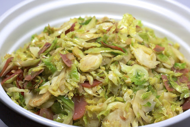 Shredded Brussels Sprouts with Proscuitto