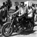 James Dean celeb on motorcycles