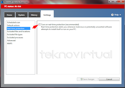Cara Menonaktifkan Antivirus Microsoft Security Essential