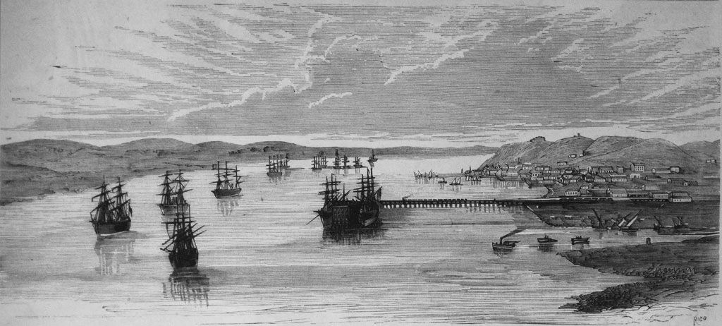 Grabado de Huelva en el siglo XIX