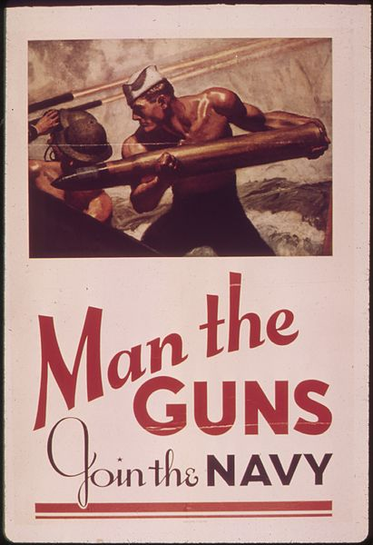 man the guns join the navy poster World war ii: american man the guns, join the navy next remember december 7th when you ride alone, you ride with hitler rosie the riveter bataan death march poster.