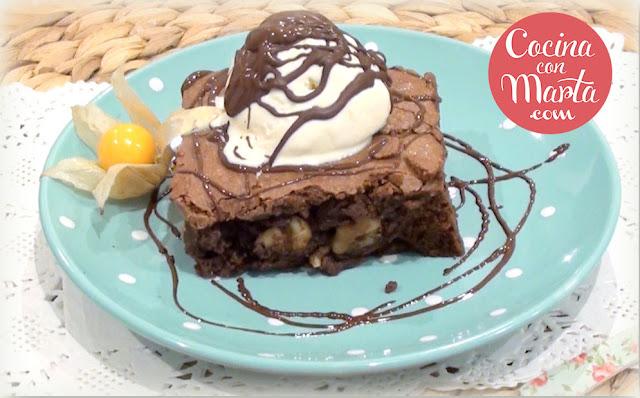 Brownie de chocolate, video receta, cocina con marta, fácil, rápido, casero.