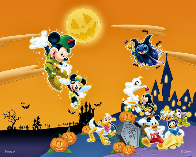 decidedly disney trick or treating with mickey the gang