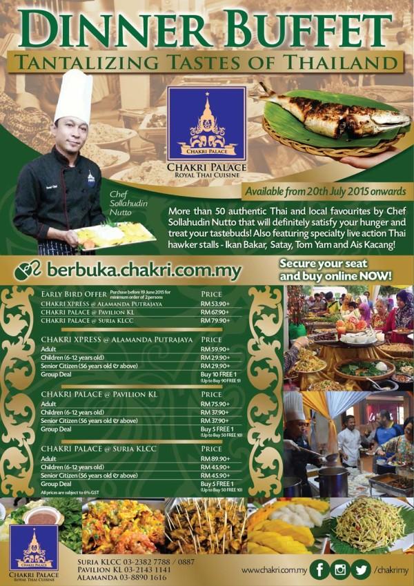 Buka Puasa This Ramadan @ Imperial Chakri Palace Thai Restaurant