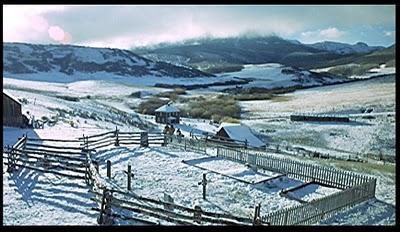Winter scenery True Grit 1969 movieloversreviews.blogspot.com