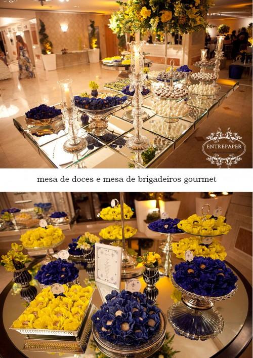 decoracao de festa azul marinho e amarelo:Casando e Amando: Inspiração – Decoração Azul e Amarelo