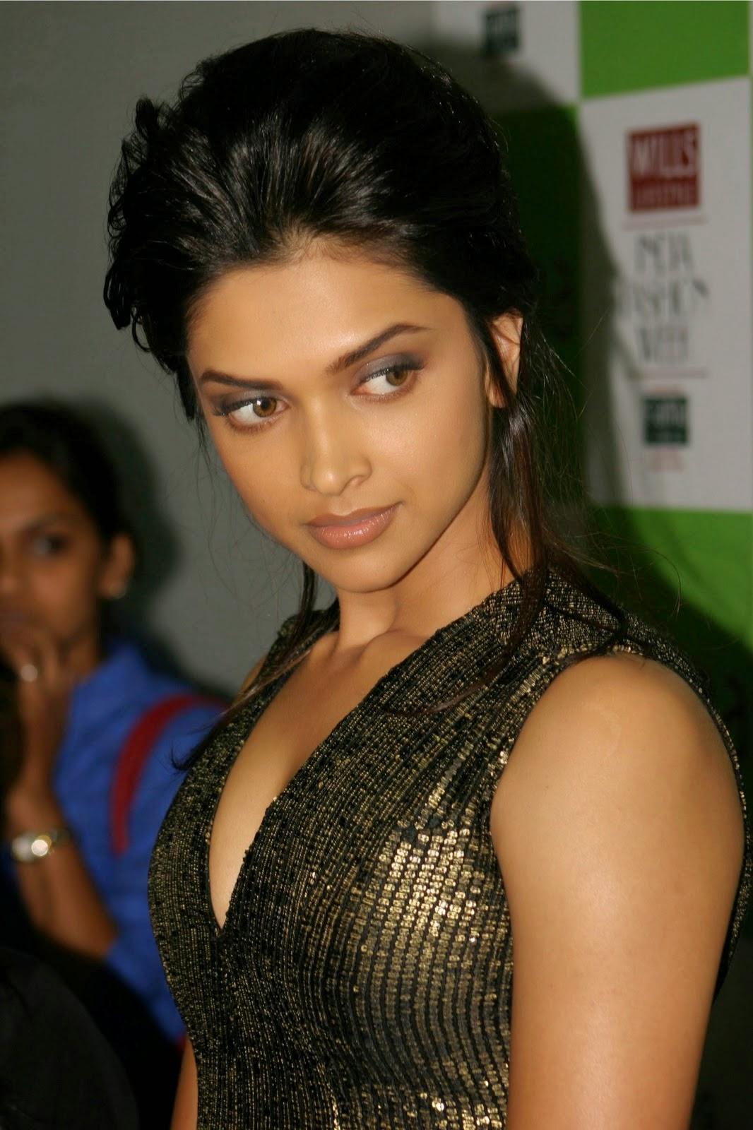 Deepika Padukone in Glittery Black Dress