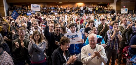 Bernie Sanders in Minneapolis, Minnesota.