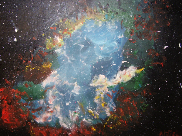 painting cosmos cosmic