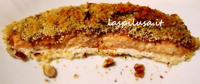 Ricetta salmone in crosta di nocciole