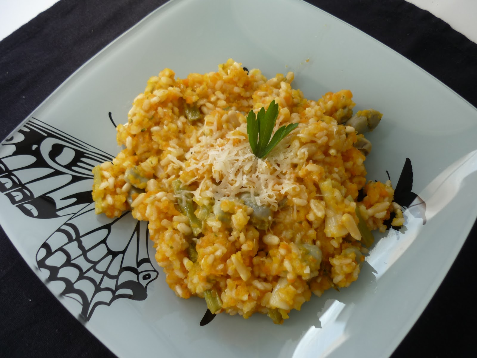 La chef a risotto de arroz integral con calabaza - Risotto arroz integral ...