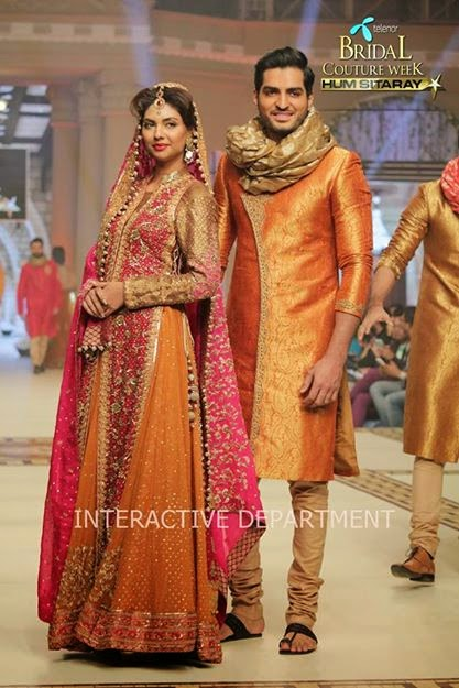 Bridal Couture Fashion week 2014 hum sitaray