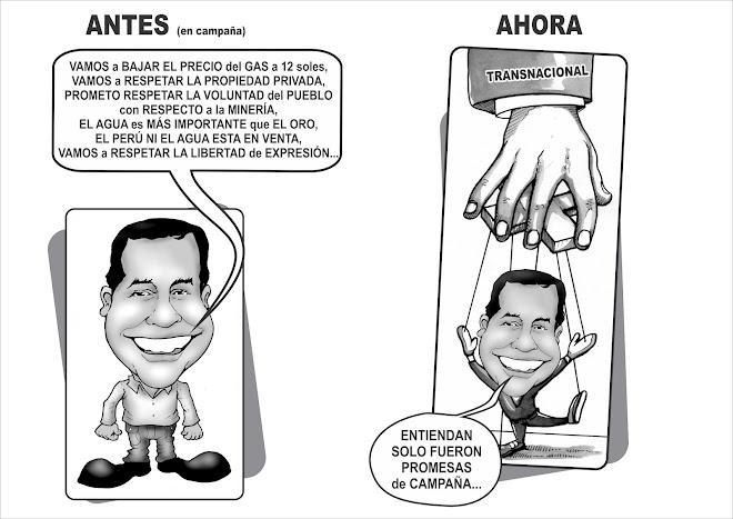 OLLANTA CARICATURA - ANTES Y DESPUES
