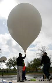 The High-Altitude balloon before it is released