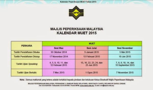 kalendar-peperiksaan-muet-2015