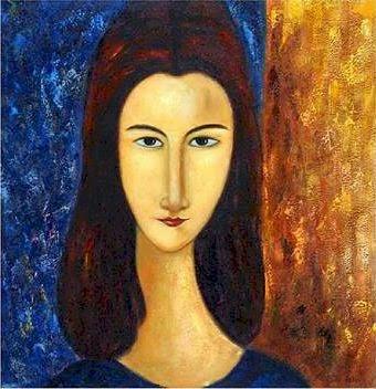 Jeanne Hébuterne by Modigliani
