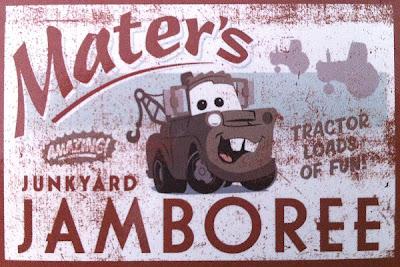 Mater's Junkyard Jamboree Sign Magnet