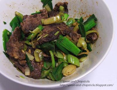 Beef Chuck Steak Salad with Green Baby Garlic