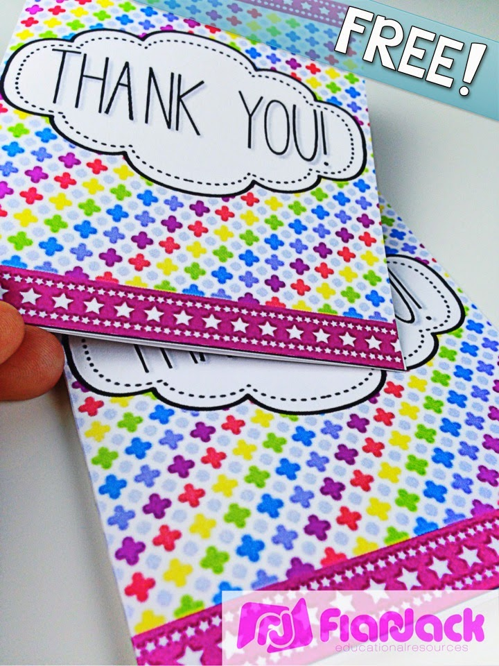 http://www.teacherspayteachers.com/Product/NEON-Thank-You-Cards-FREEBIE-In-Spanish-too-1306405