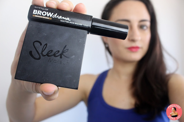 makeup maquillaje sleek eyebrow brow kit drama maybelline tutorial look