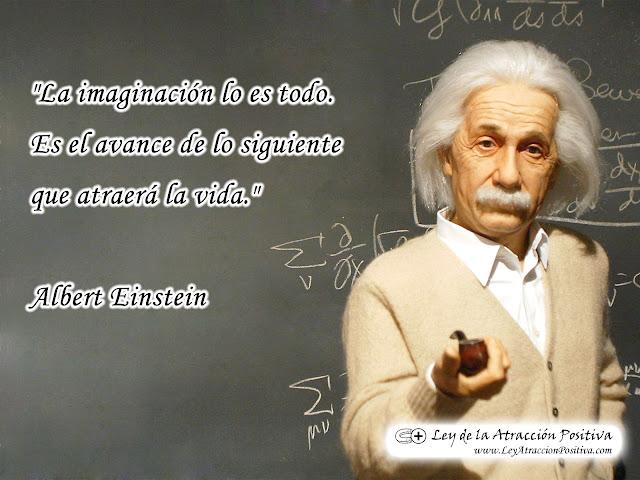 Wallpaper Gratis de Ley de Atracción con Cita de Albert Einstein
