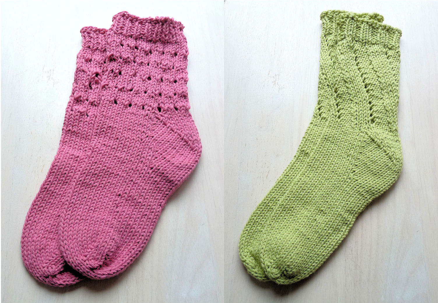 Knitting Pattern For Cotton Socks : Carmens Yarn Projects: Crocheted Socks and Knit Freedom