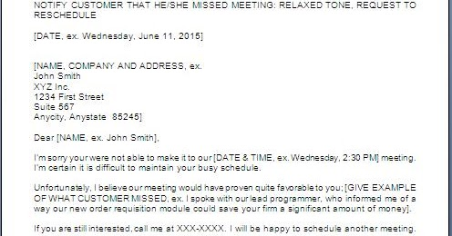 Every Bit Of Life Reminder Letter For Not Attending Meeting