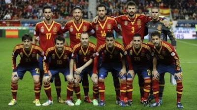 SPAIN SOCCER TEAM 2013
