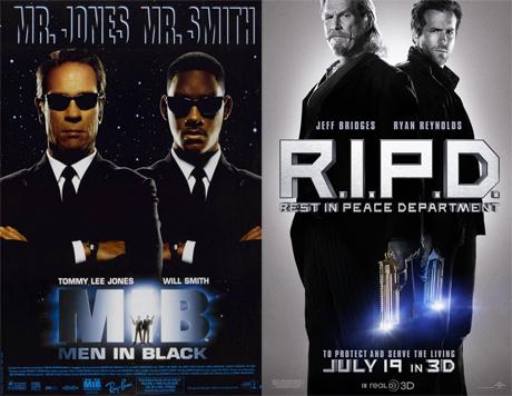 7 parecidos sospechosos entre M.I.B y R.I.P.D.