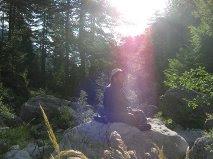 Meditación en el Monte del Olimpo en Grecia