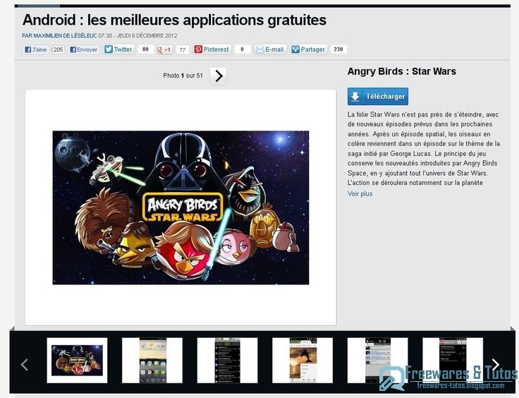 le site du jour les meilleures applications android gratuites hiver 2012 freewares tutos. Black Bedroom Furniture Sets. Home Design Ideas