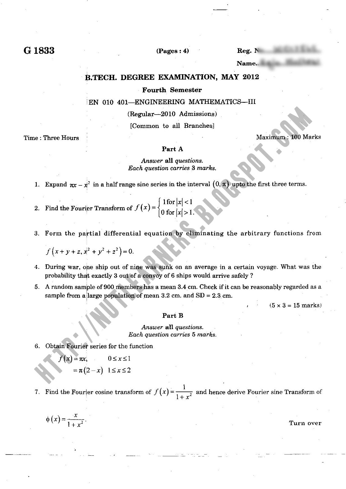 Mechanical Engineering college response paper