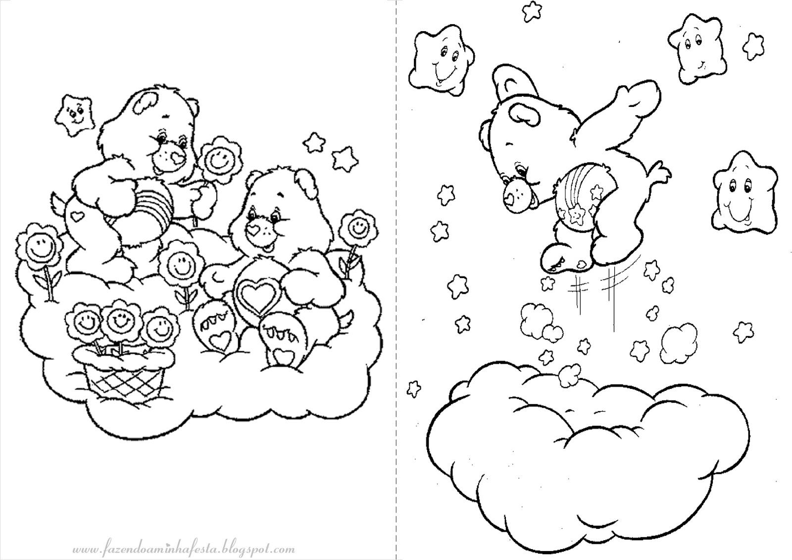 imagens para colorir dos ursinhos carinhosos - Desenhos dos URSINHOS CARINHOSOS para colorir