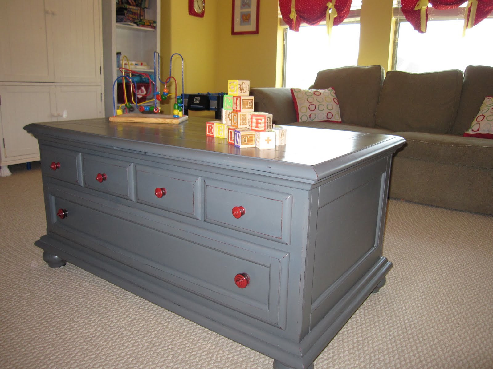 RetroChic Restorations Play Table with Storage