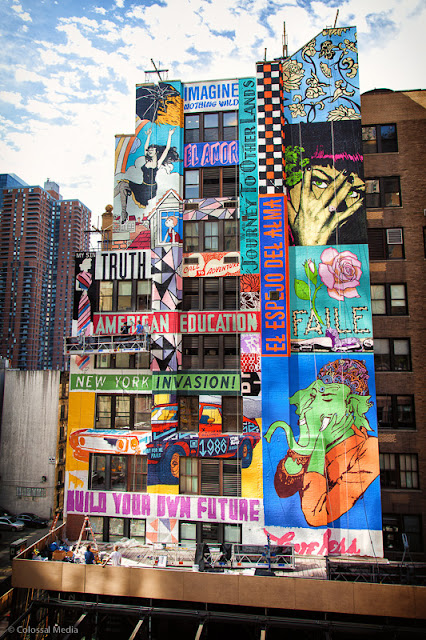 Street Art By Faile On The Streets Of New York City, USA