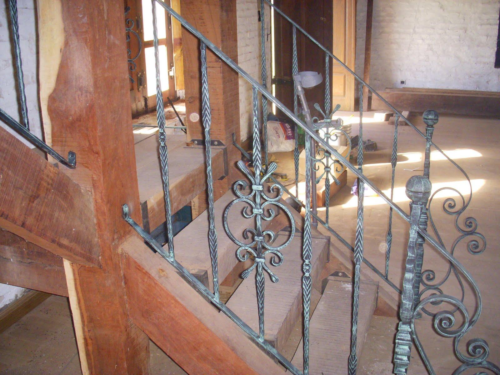 Forjados la farolera baranda de escalera de hierro forjado for Escaleras hierro forjado