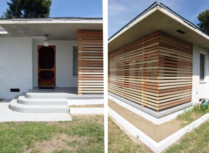 Diy una pared de listones de madera para el porche for Listones madera exterior