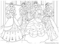 Mewarnai Gambar Untuk Anak Perempuan Barbie And Three Musketeer