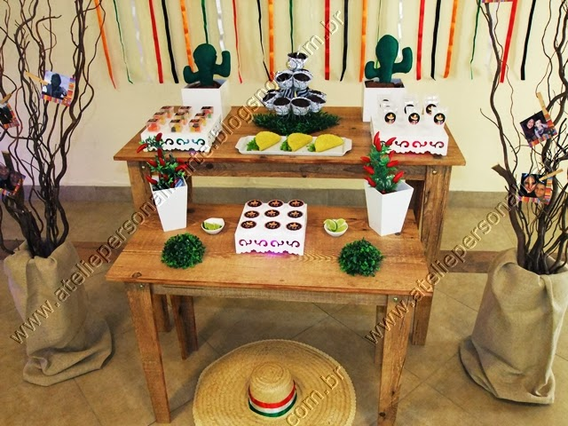 decoracao e personalização de festa mexicana