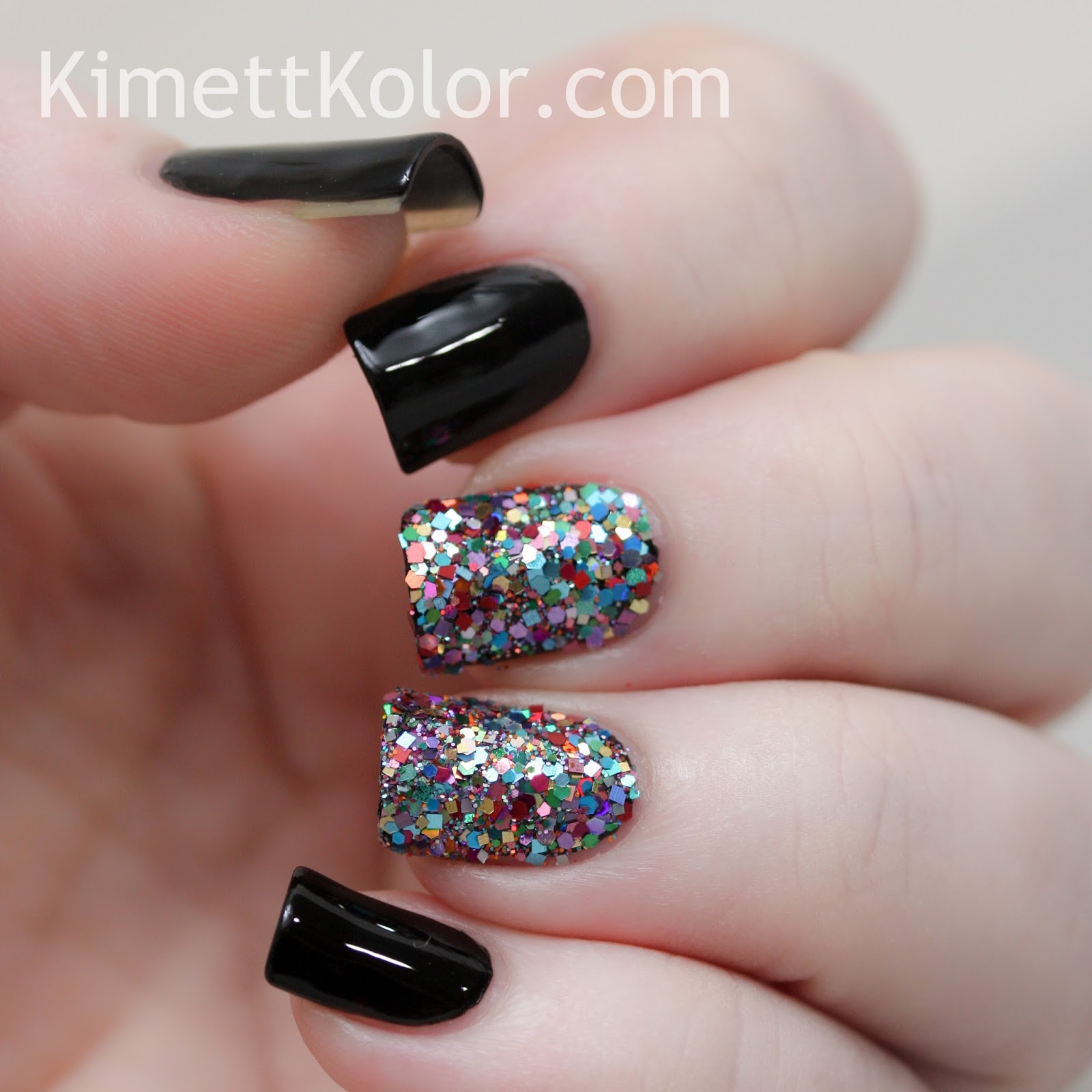 Glitter Covered Nails...with Stamping! | Kimett Kolor