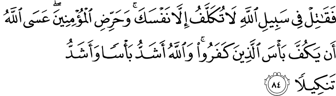 Surat An-Nisa Ayat 84