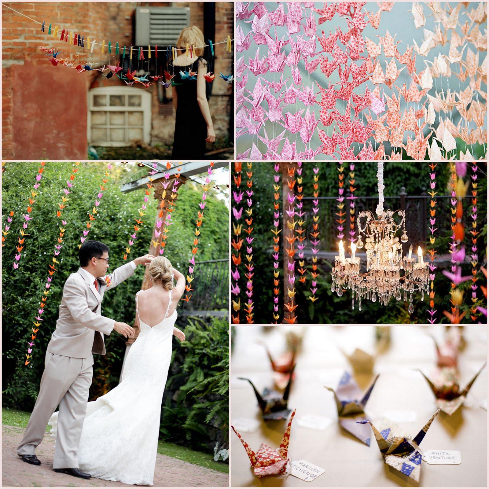 Enchant weddings origami cranes for Decoracion original