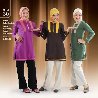 Busana Muslim Qirani Coklat kopi Purple Hijau gelap