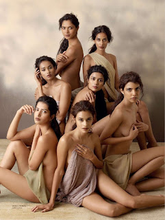 Maxim India Cover Page with 7  Indian models Desi Girls