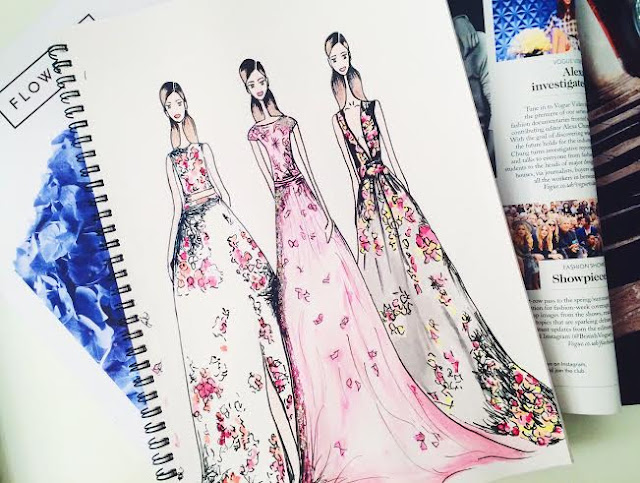 fashion illustration portfolio drawing art zuhair murad resort 2016 sketch book blog inspo