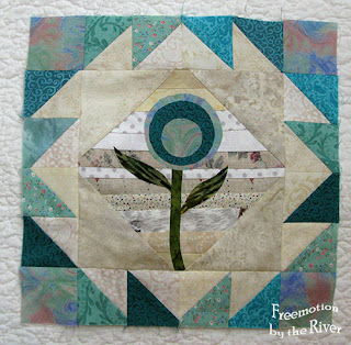 Teal Flower block at Freemotion by the River