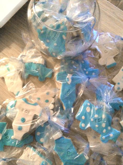 mavi beyaz kurabiye